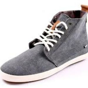 Reef High Top Sneakers Shoes Gray sz 5 Athleisure